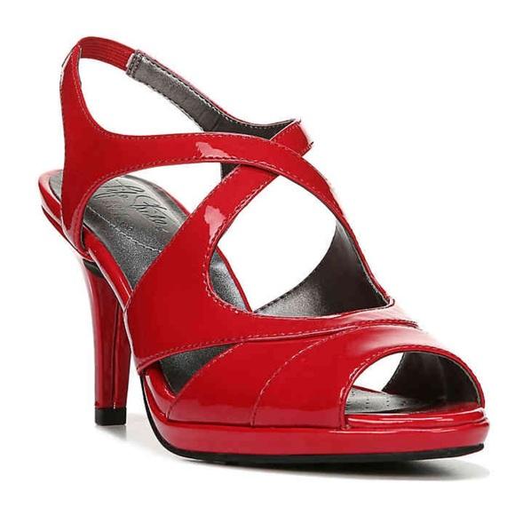 Lifestride Strappy Sandal Heels Size 85